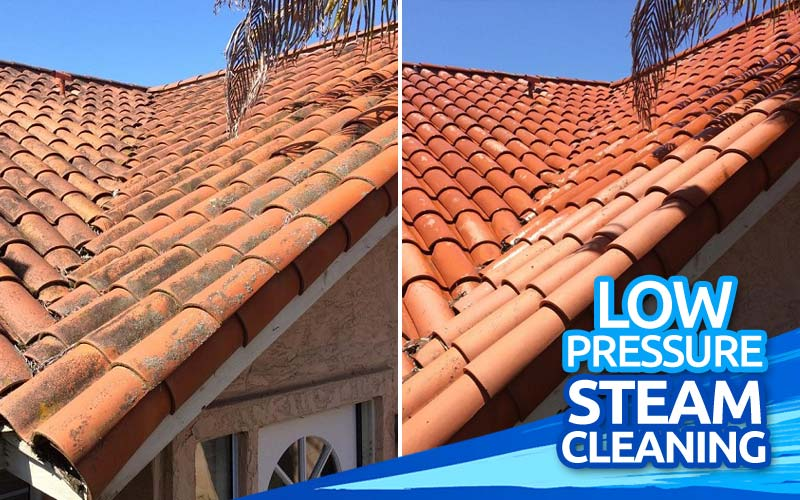 Low-Pressure-Steam-Cleaning-Tile-Roof-Stain-Cleaning-North-County-San-Diego-CA-1